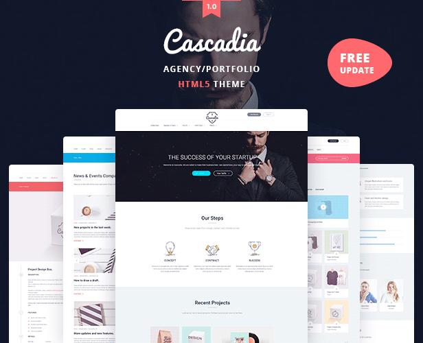 Cascadia - Agency/Personal Portfolio HTML5 Template - 2