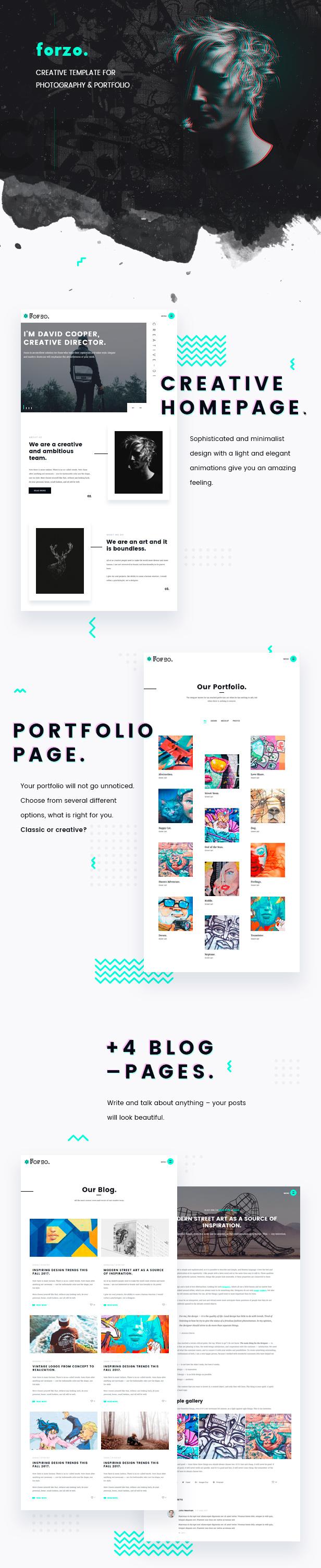 FORZO – Creative Photography & Portfolio HTML5 Template - 3