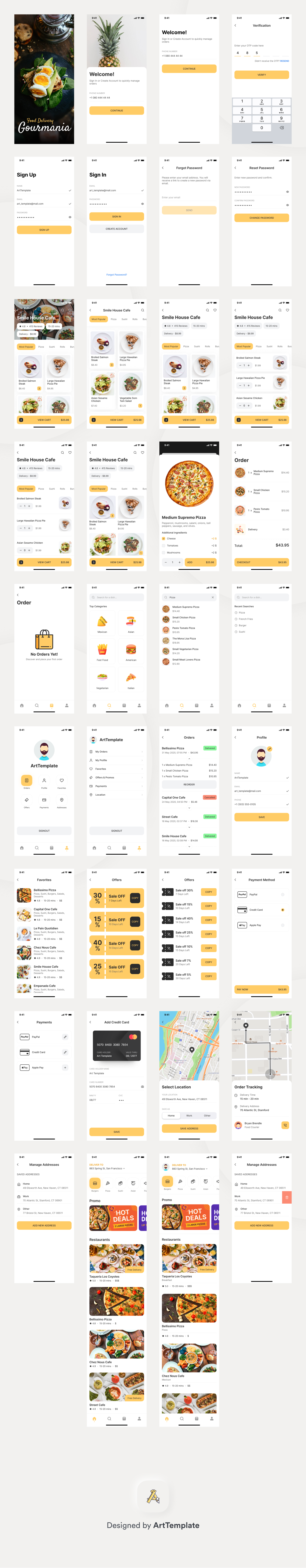 Gourmania - Food Delivery App
